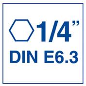 Izar 15865/ /Foret /à m/étaux HSS hexagonal 1//4/dIN E6.3/m/étal 3,25/mm