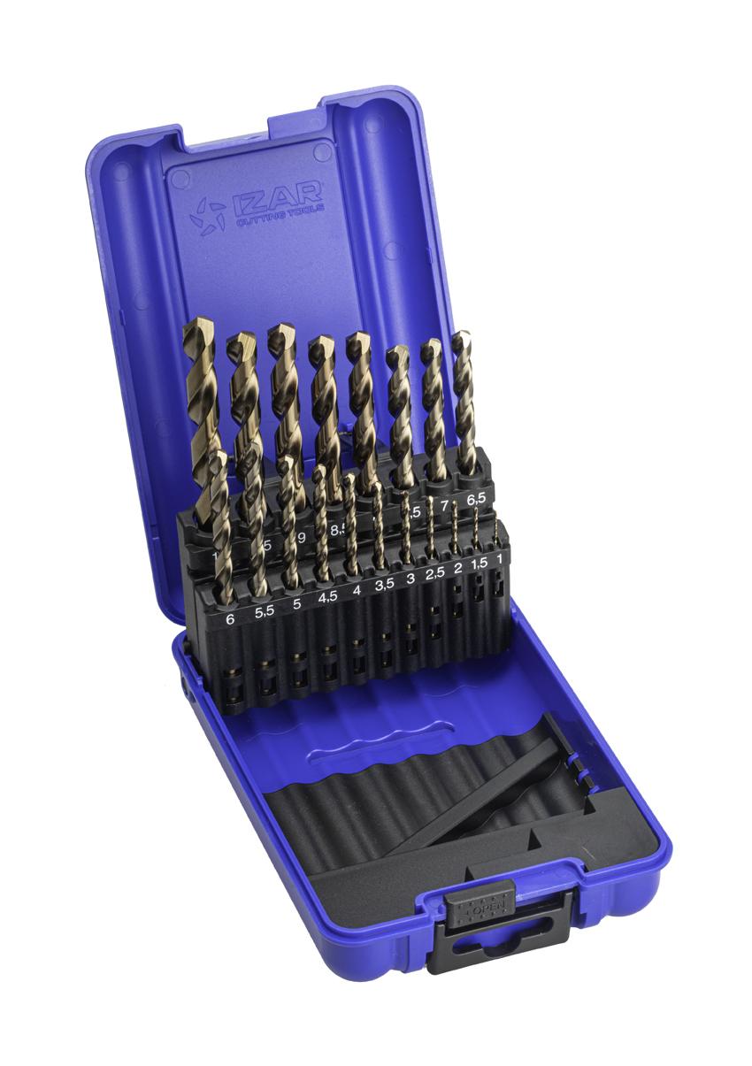 Toolstar Brocas para taladro 12-65 mm, acero r/ápido, aluminio, tablas