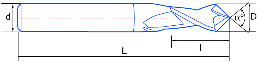 IZAR 78896 Fraise pour m/étal HSS DIN844N NZ sans coupure centre 09,50 mm